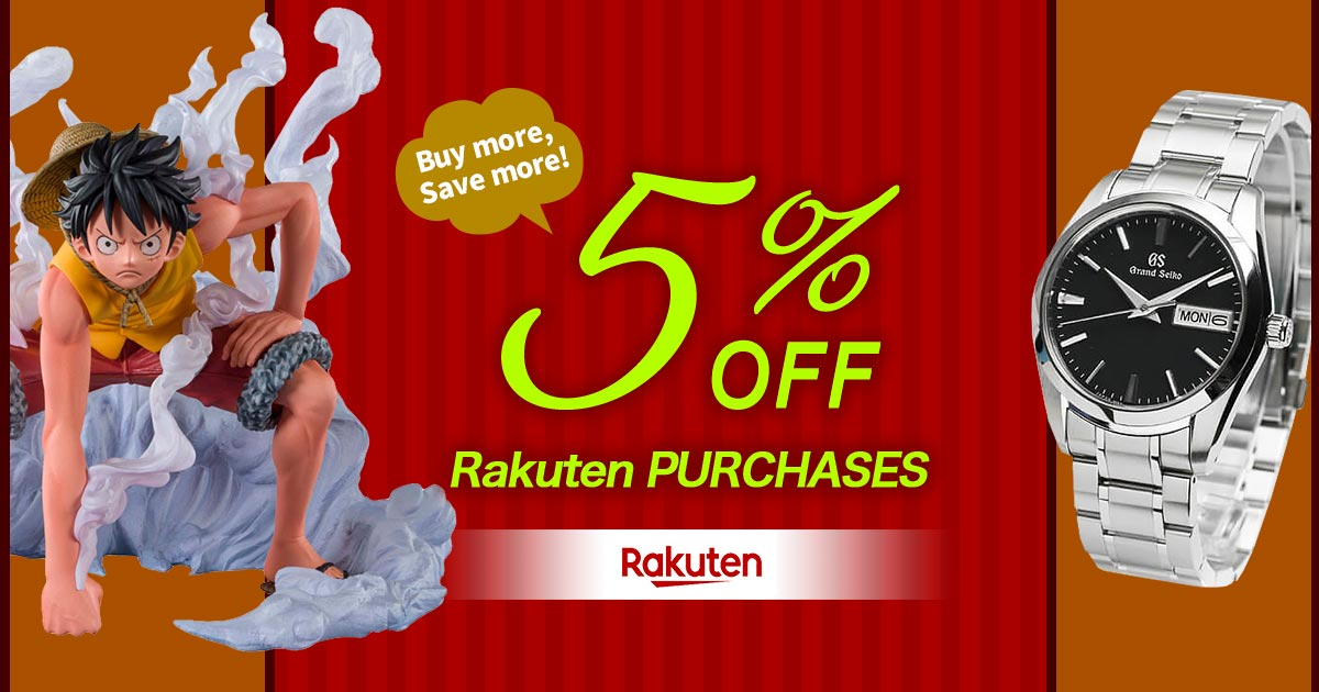 Rakuten PURCHASES 5%OFF